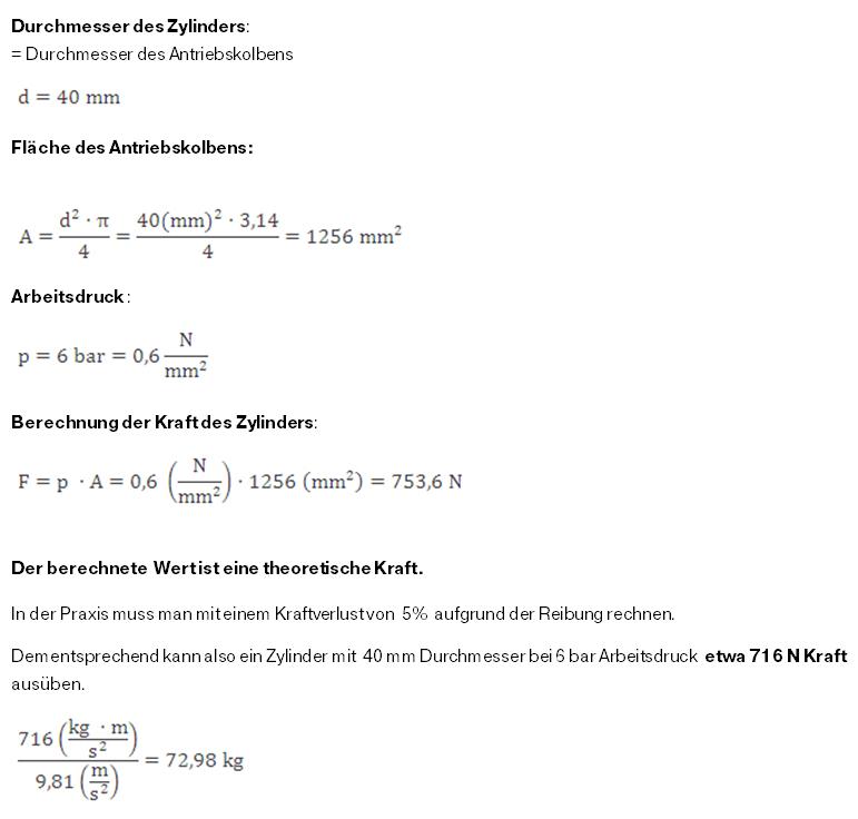Formeln Zylinder