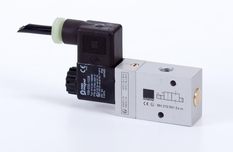 2/2-solenoid-valve, n.c., G1/8, ATEX